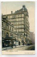 AUSTRALIE SYDNEY  Entrée HOTEL Australia 1907 écrite Timbrée        /D08-2017 - Sydney