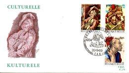 BELGIQUE. N°1505-7 De 1969 Sur Enveloppe 1er Jour. Tapisserie. - Textile
