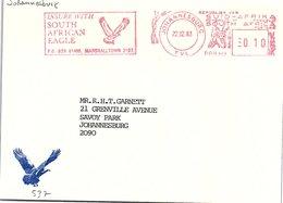 AFRIQUE DU SUD  - EMA SOUTH AFRICAN EAGLE - JOHANNESBURG 22.12.83  / 2 - Afrique Du Sud (1961-...)