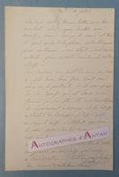 L.A.S Jean-Baptiste ISABEY Peintre Portraitiste & Miniaturiste à M. ASSELOT - Nancy Hôtel Europe - Lettre Autographe LAS - Autographes