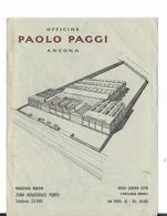 PUBBLICITARIA  OFFICINE PAOLO PAGGI ANCONA NEL RETRO CARTINA STRADALE - Ancona