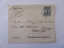 Turquie Vers France (Bourges) - Enveloppe Avec Timbre 2e Conférence Balkanique YT N°800 - Cachet 1932 - 1921-... République