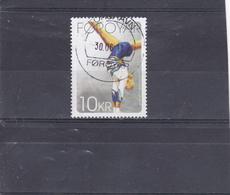 Féroé  Oblitéré  2009  N° 674  Sport. Gymnastique. Gymnaste à La Poutre - Faroe Islands