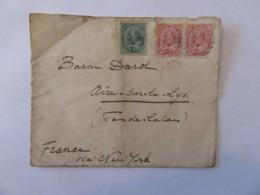 Canada Vers France (Aire Sur La Lys) - Enveloppe Avec Timbres Edouard VII YT N°78 Et 79 - Vers 1903 - 1903-1908 Règne De Edward VII