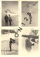 SUISSE ALPES BERNOISES - GRINDELWALD 1966 - 4 PHOTOS 9x13 Cms - MONTAGNE - Lieux
