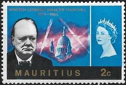 MAURITIUS 1966  Churchill Commemoration - 2c - Blue MH - Mauritius (1968-...)