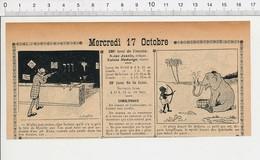 2 Scans Presse 1906 Humour Fête Foraine Neuilly Stand De Tir Carabine à L'arc éléphant 223XA - Vieux Papiers