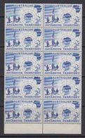 AAT 1957 Discovery Of Antarctica 1v  Bl Of 10 ** Mnh  (41482B) - Territoire Antarctique Australien (AAT)