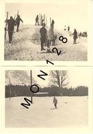SUISSE ALPES BERNOISES - GRINDELWALD 1966 - 2 PHOTOS 9x13 Cms - SKIEURS - Lieux