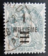 Port-Saïd Yt 69, Type Blanc Surcharge 1 Millieme / 1c Oblitéré - Port-Saïd (1899-1931)