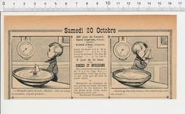 2 Scans Presse 1906 Humour Maquette Voilier Modélisme Bassin Ancien Baromètre Teinture Teinturier Métier 223XA - Vieux Papiers