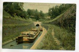 54 LIVERDUN Beau Plan Péniches Canal La Tranchée Le Tunnel Marinier Sutr Pont 1908 Timb Batellerie    /D08-2017 - Liverdun