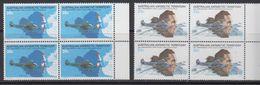 AAT 1979 50th Ann. First Flight Over Southpole 2v Bl Of 4  ** Mnh (41482G) - Australisch Antarctisch Territorium (AAT)
