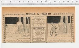 2 Scans 1906 Humour Braconnier Braconnage Piège à Loup à Machoires Cul-de-jatte Sur échasses Durée Du Temps 223XA - Vieux Papiers