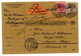 "Nr. 85 I MIF Nachnahmesendung ""Uerdingen - Moers"" 1913 - Briefe U. Dokumente"