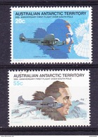 AAT 1979 50th Ann. First Flight Over Southpole 2v  ** Mnh (41483) - Territoire Antarctique Australien (AAT)
