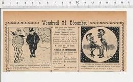 2 Scans 1906 Humour Coq Rooster Chair Poule Bébé Chef De La Sûreté Larousse Pompe IncendiePompiers Casque Pompier 223XA - Vieux Papiers