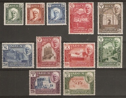 ADEN - QU'AITI STATE IN HADHRAMAUT 1942 - 1946 SET SG 1/11 MOUNTED MINT Cat £70 - Aden (1854-1963)