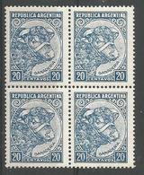 20c Azul Claro (toro) - Unused Stamps