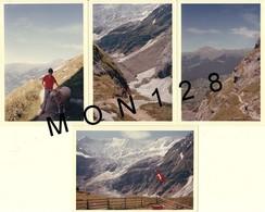 SUISSE ALPES BERNOISES - GRINDELWALD 1965 - PROMENADE A STIREGG - 4 PHOTOS 9x13 Cms -MONTAGNE - Lieux