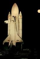 La Navette Spatiale Columbia à La Pleine Lune - Editions Galaxy Contact - Astronomie