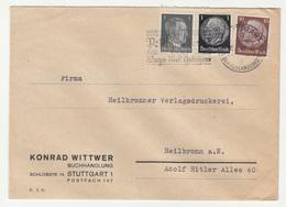Konrad Wittwer Buchhandlung Stuttgart Company Letter Cover Travelled 1942 B181215 - Deutschland