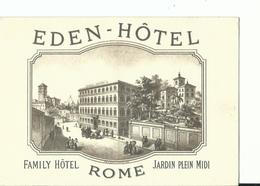 PUBBLICITARIA  HOTEL EDEN ROMA NV - Pubblicitari