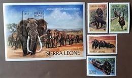 Sierra Leone  1983** Mi.713-17. Animals WWF [22,45] - W.W.F.