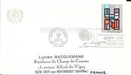 Onu, United Nations, Nations Unies,new York, Entier Postal 1973, Carte Postale Fdc - New York -  VN Hauptquartier