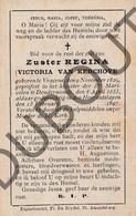 Doodsprentje Zuster/Soeur Regina / Victoria Van Kerchove °1829 Vrasene †1897 Maricolen Dendermonde (F115) - Décès