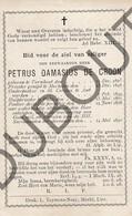Doodsprentje Pater/Frère Petrus Damasius De Croon °1823 Turnhout †1890 Pulle / Mechelen / Antwerpen / Pulle (F116) - Décès
