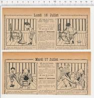 2 Scans 1906 Humour Musique Cor De Chasse Ancienne Tabatière Feu D'artifice Dentiste Métier  223XA - Vieux Papiers