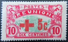 1915 Réunion Yt 81A Map Of The Island . Neuf Charnière - Reunion Island (1852-1975)