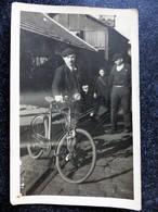 Carte Photo NANTES CHANTENAY Sortie D'usine CHANTIERS De La Loire Homme à Vélo 1937 Loire Inférieure 44 - Nantes