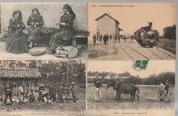 Lot De 100 Cartes Postales Anciennes Diverses Variées Et 4 Photos, Très Bien Pour Un Revendeur Réf, 313 - Cartes Postales