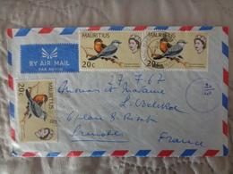 LETTRE PAR AVION MAURITIUS AVEC 3 TIMBRES - Mauritania (1960-...)
