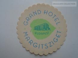 ZA139.14 Dessous De Verre -Coasters - Grand Hotel Margitsziget -Budapest -Hungary - Non Classés