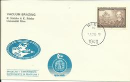 ESPACE - EXPERIENCES EMBARQUEES SUR SPACELAB - AUTRICHE - Vacuum Brazing - 01/12/1983 - FDC & Commemoratives