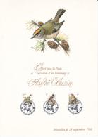 Feuillet De La Poste En Hommage à BUZIN - FDC Oiseaux  - Timbres N°2424/26 - 1991 - 1985-.. Oiseaux (Buzin)