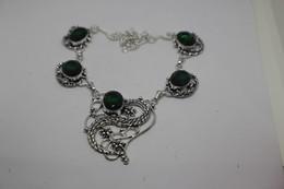 Collana Di Quarzo Verde Cm. 54 - Colliers/Chaînes
