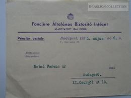 ZA139.15 Fonciere Compagnie D'assurance -Insurance - Budapest - 1935 - Factures & Documents Commerciaux