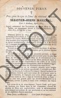Doodsprentje Pater/Frère Sébastien-Joseph Marichal °1824 Clérmont Aux Houx †1879 Clermont-sous-Huy St Truiden (F122) - Décès
