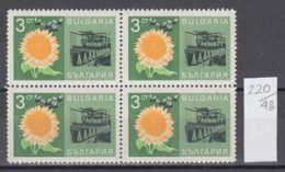 48K220 / 1790  Bulgaria 1967 Michel Nr. 1728 - Economic Achievements - Honey Bee . SONNENBLUMEN , Ölpresse - Usines & Industries