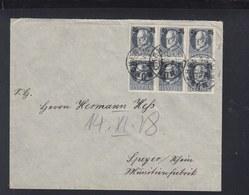 Bayern Brief 1918 Aufdrucke MeF München Nach Speyer - Bayern