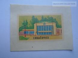 ZA139.16  Hotel Lagel  Luggage Label  LUHACOVICE Czechoslovakia - Hotel Labels