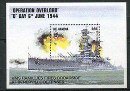 Gambie  ** Bloc 225  - HMS Ramillies - Gambie (1965-...)