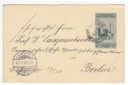 K.u.k. Bosnia, Postal Stationery Postcard Travelled 1906 Srebrenica To Schöneberg (Berlin) B181215 - Bosnie-Herzegovine