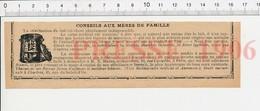 Presse 1906 Stérilisation Du Lait Stérilisateur Haran Biberons Anciens 223XA - Vieux Papiers