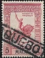 MACAU 1938 Mousinho De Albuquerque - 5a - Red FU PACQUEBOT CANCELLATION - Macau