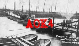 FLANDERN Roeselare Izegem Reserve Pionier Kompagnie 52 Brug 1914 1915 - Guerre 1914-18